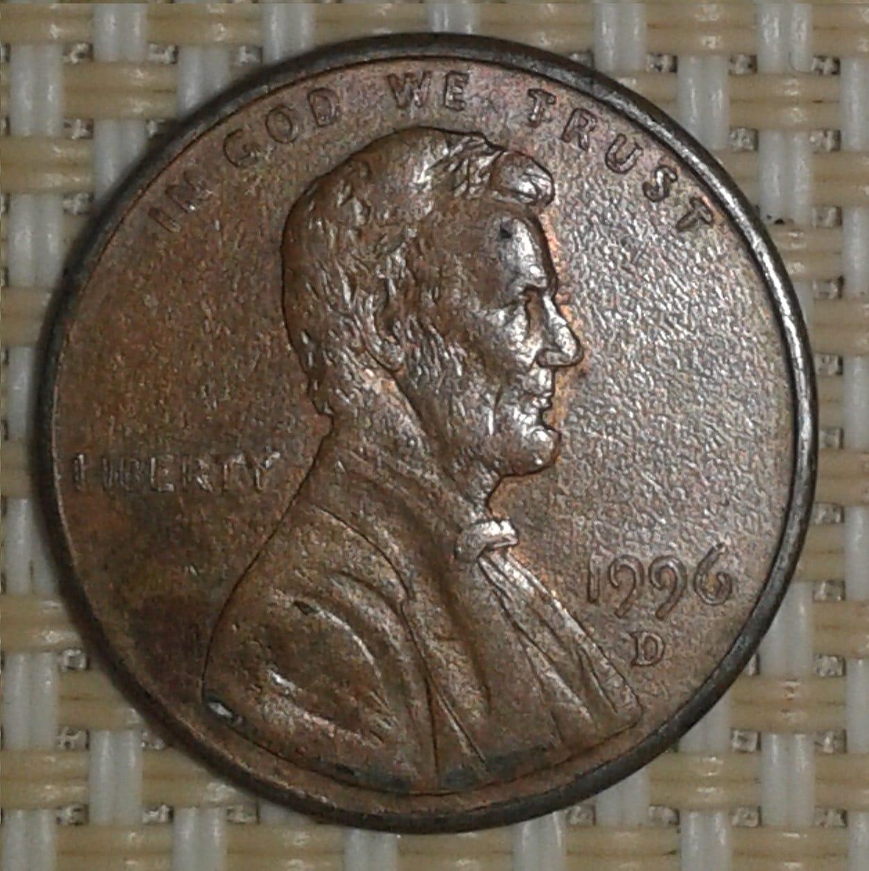 Moneda de un centavo U.S.A. 1996 2i8ki06