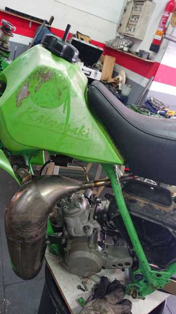 Kawasaki KX 80 Big 1983 - Restauracion 2nv73pd