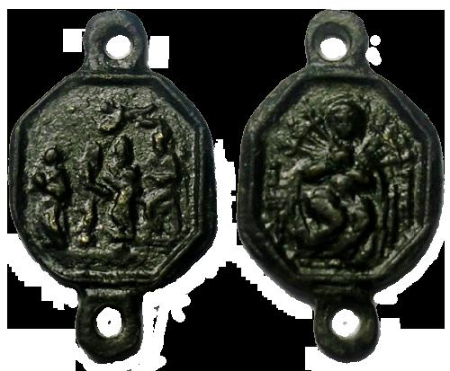 Varias medallas siete dolores de la Virgen María 2qci3wh