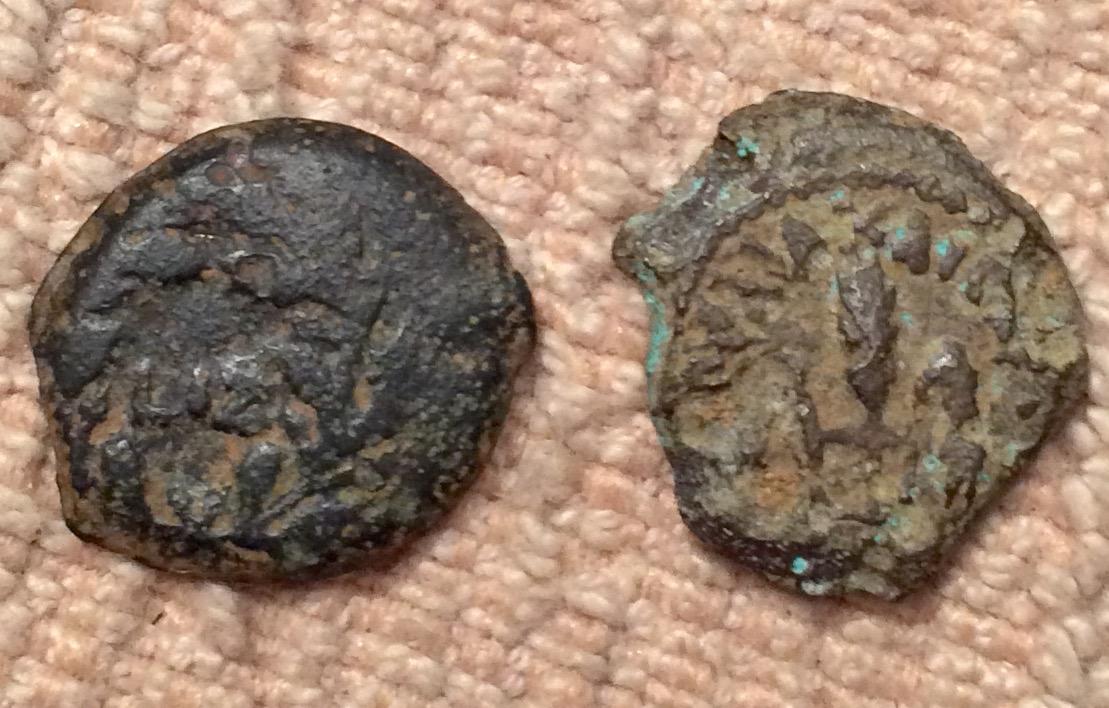 Prutah (Leptón) de Poncio Pilato. Jerusalén L IZ año 17 de Tiberio (30 - 31 d. C.) 2rnadyd