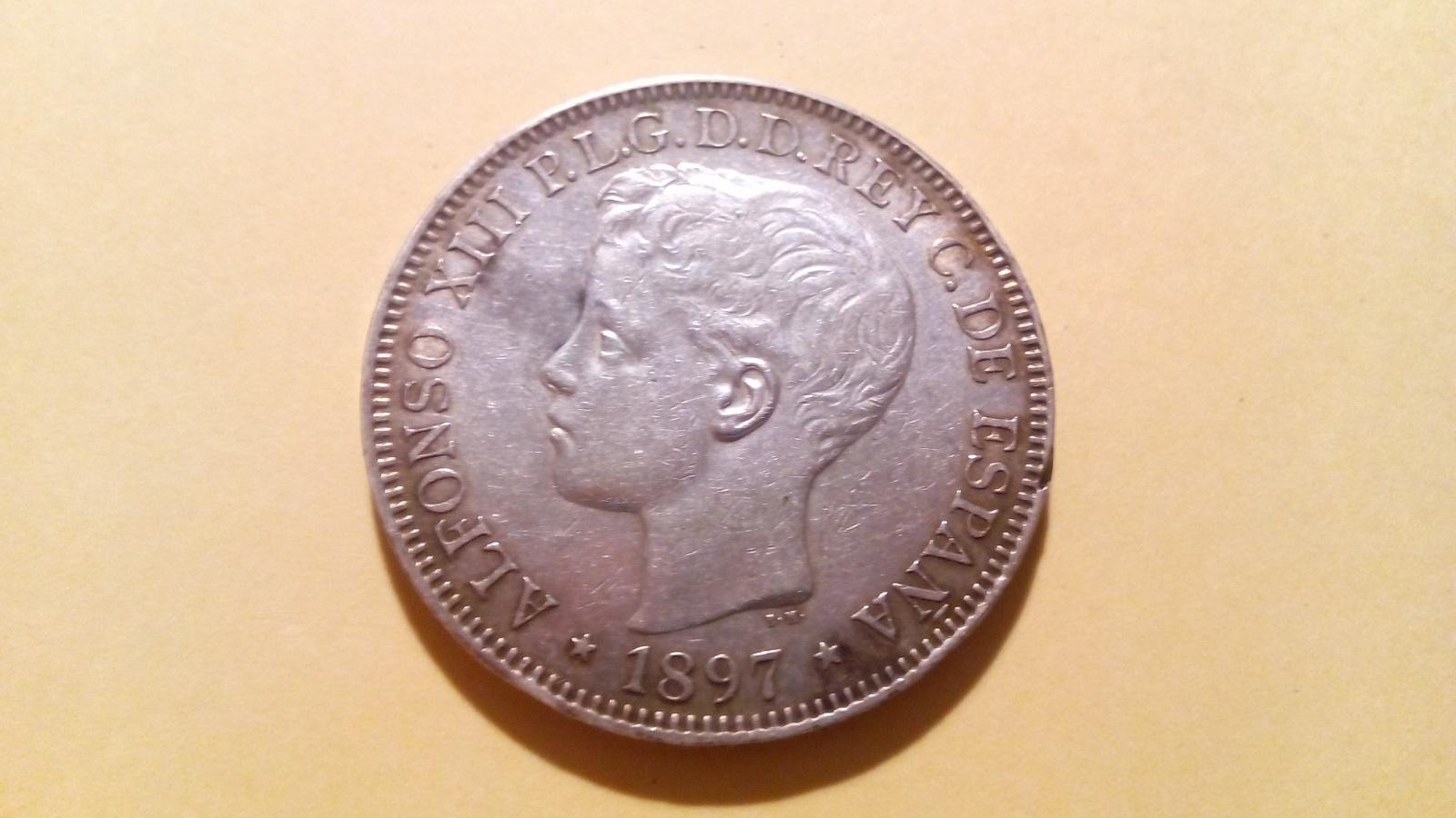 1 peso Filipinas 1897 2vl7e5w