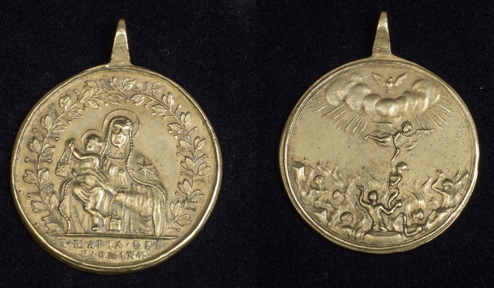 purgatorio - Medalla Virgen del Carmen / Ánimas del Purgatorio (R.M. SXVIII-C112) 2wdvjih