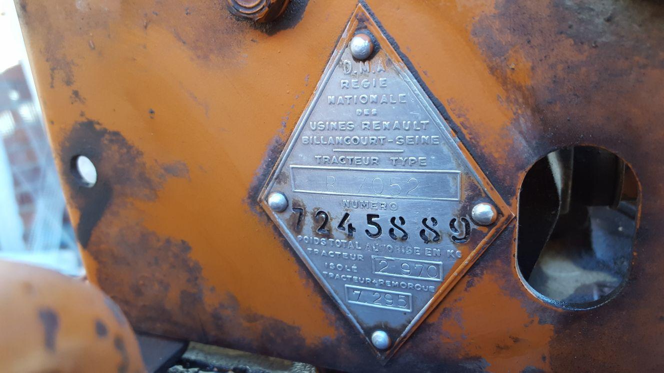 [Renault N72] Problema con identificación del bastidor, primera ITV de mi viejo tractorcillo 2yv4gf5