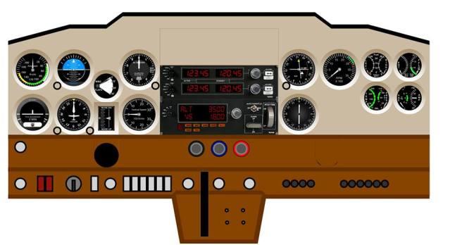 Cockpit baseado no Cessna 150/152 33bdcuv