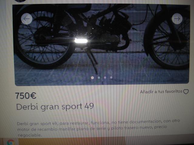 Comprar Derbi Gran Sport 33ufm0x