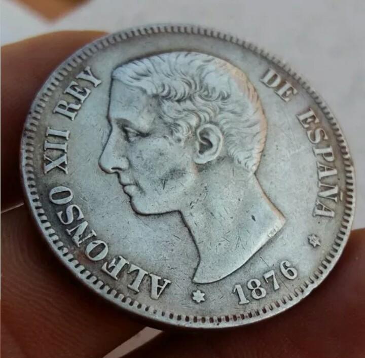 Duro de Alfonso XII del año 1876 3468cvm