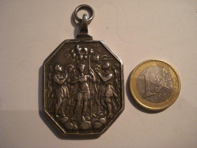 Medalla ochavada en plata - Santísima Trinidad / Arcángeles 34jda3l