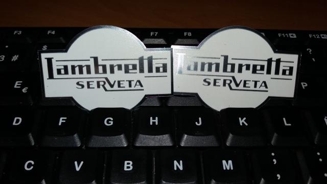Escudo depósito Lambretta Trepador 352j75t