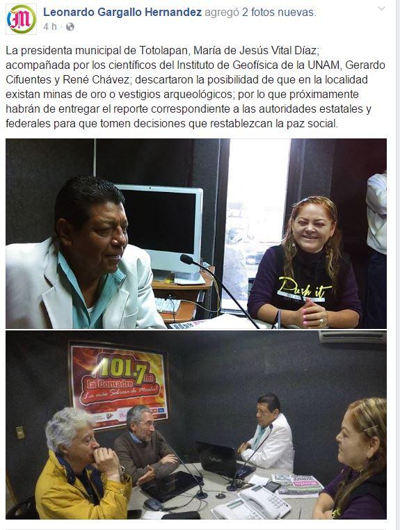 EMPRESA LOCATESO FRAUDE COMPROVADO POR GEOFISICA DE  LA UNAM 65z4te