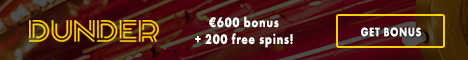 Dunder Casino 100% up to €100 and 200 free spins A0hv9s