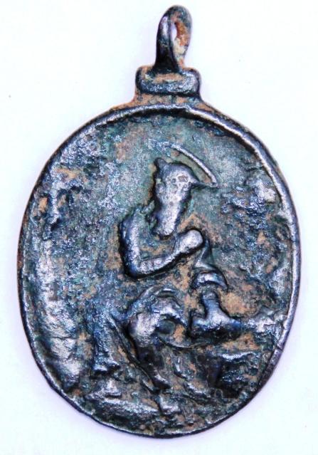 Medalla Virgen de Guadalupe / San Jerónimo de Estridon S-XVII Bi5ab7