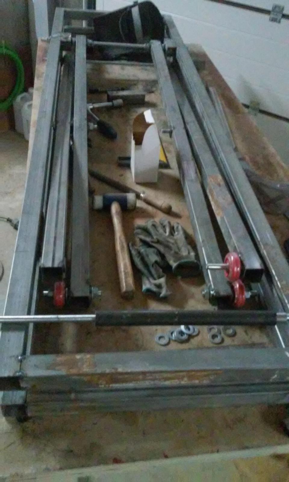 Elevador electrico de motos hecho con taladro.Table lift homemade Dgpjer