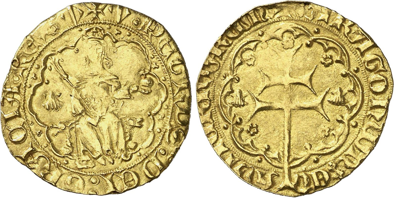 """Rals d'or de Pere I de Mallorca (variantes del tipo """"venera"""") I55dn6"""