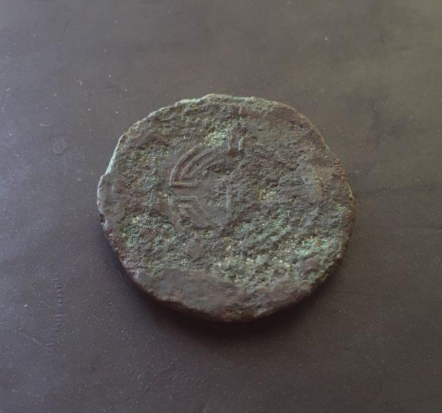 Dupondio de Lucus Augusti (r: caetra). Guerras Astur-Cántabras Mwe6py