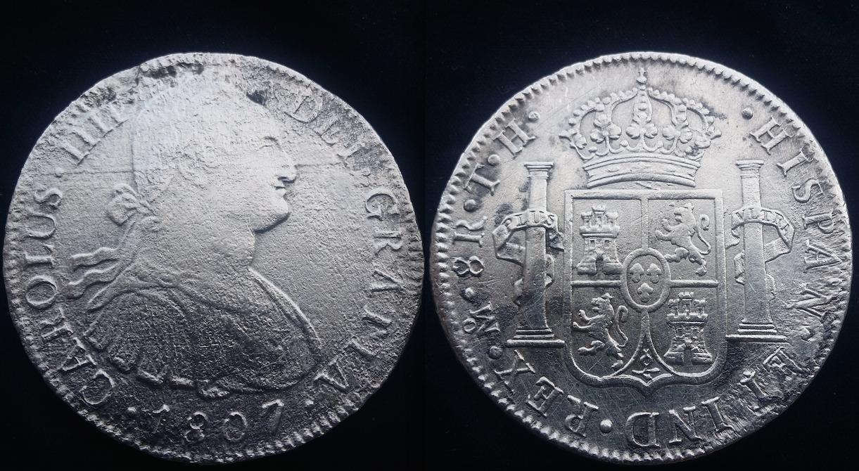 Real A8 Carlos IV (México 1807) T.H Nfmjqa