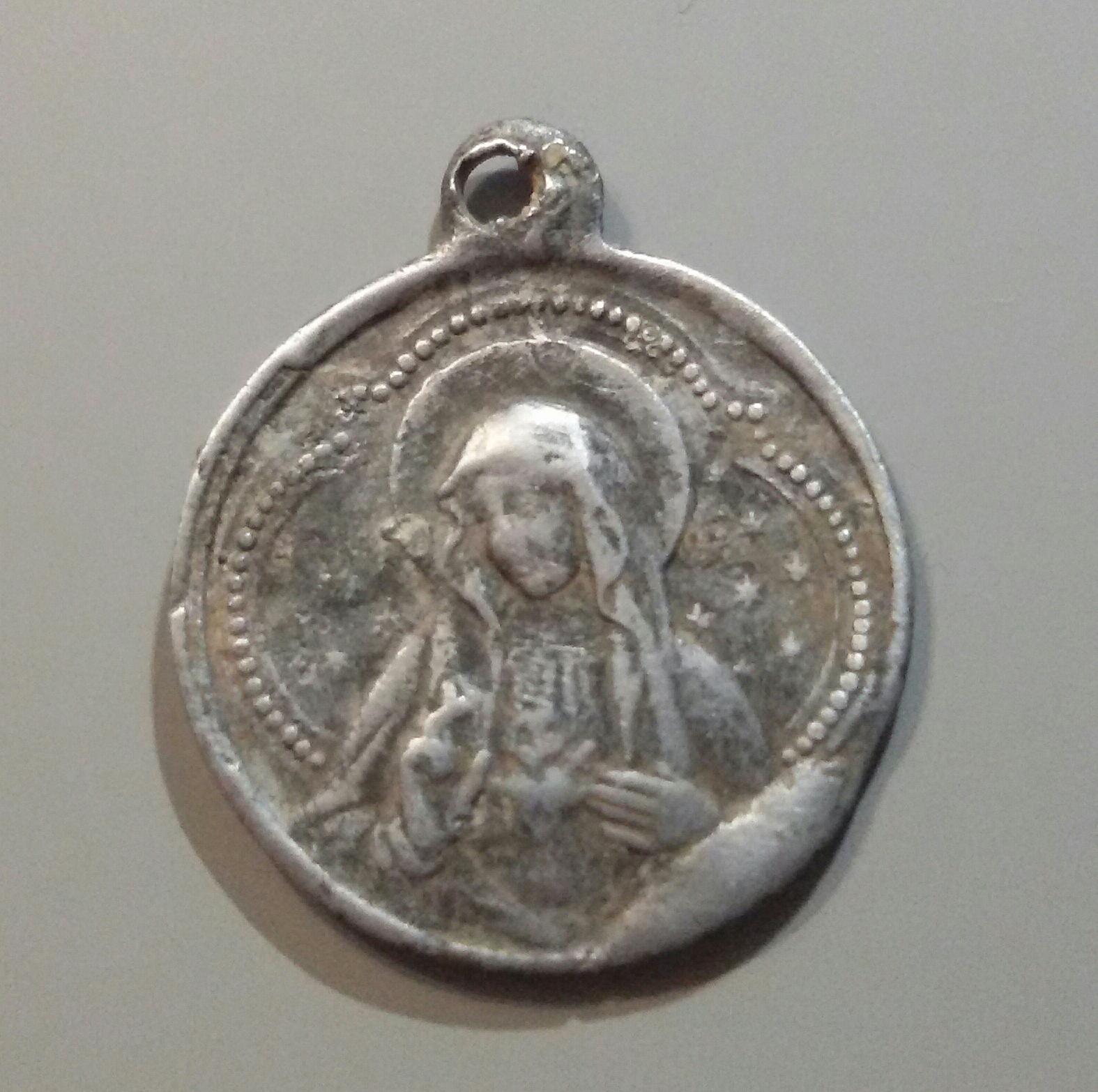 medalla del Sgdo. Corazón de Jesús / Sgdo. Corazón de María - s. XX Ws4jsn