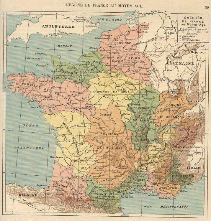 Carte de France Eglise1