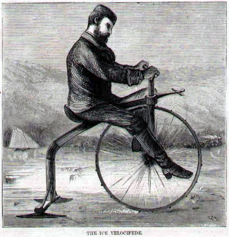 Sous la neige en ville: Brompton 1 - Voiture 0 - Page 2 Ice_velocipede_harpers_weekly_200269_vcc_library