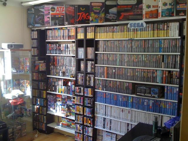 Avez- vous une pièce pour votre collection de jeux et consoles. Gamerroom