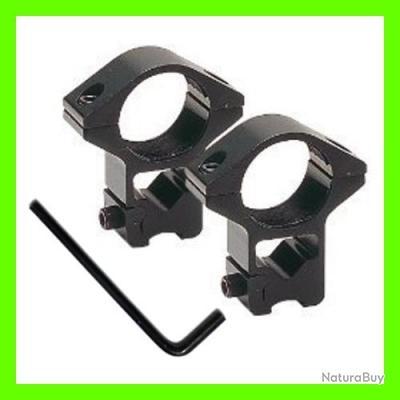 [question bête pour vous, mais pas pour moi] démontage/remontage lunette - impact réglage __00001_Anneaux-montage-HAUT-metal-diametre-25-4-mm-rail-11-mm-AVEC-TUNNEL
