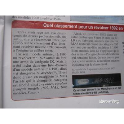 le(s) 92(s)  __00001_REVOLVER-1892-CAL-88MM92-FABRICATION-CIVILE-ETAT-NEUF