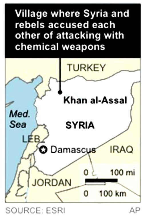 pour - Attention: Possible attaque sous fausse bannière (OTAN-FSA) en Syrie - Page 2 Khan-al-assal-chem-attack-map