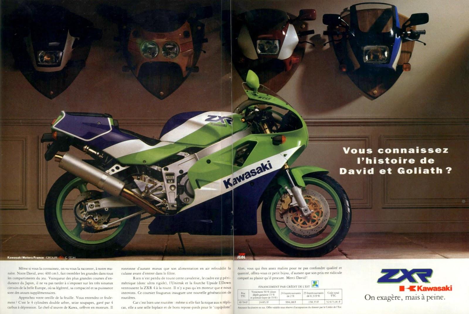 Superdeportivas japonesas de 400cc: Pequeñas maravillas [TERMINADO DE INCLUIR LAS FOTOS] Kawasaki-zzr-400-1989-moto
