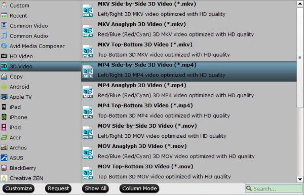 Rip 2D Blu-rays to SBS 3D MKV for 3D LG TV Mp4-side-by-side-3d-video