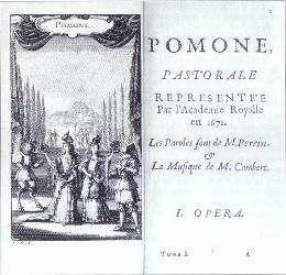 L'Opéra français et italien au XVIIème XVIIIème siècle Pomone_front