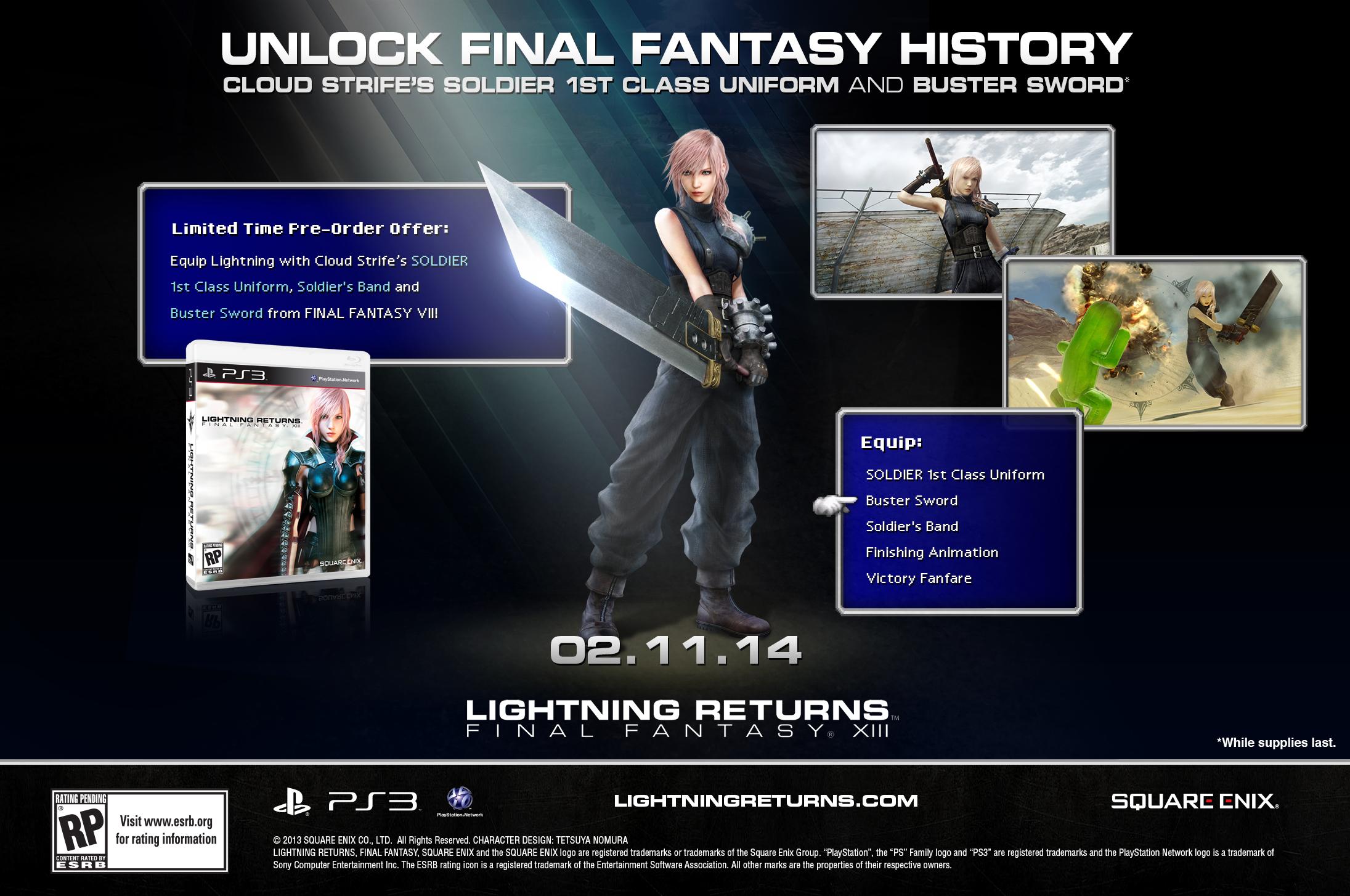 [PS] Final Fantasy VII - Page 2 Lightning-Returns-Final-Fantasy-13-Cloud-Strife-pre-order-dlc