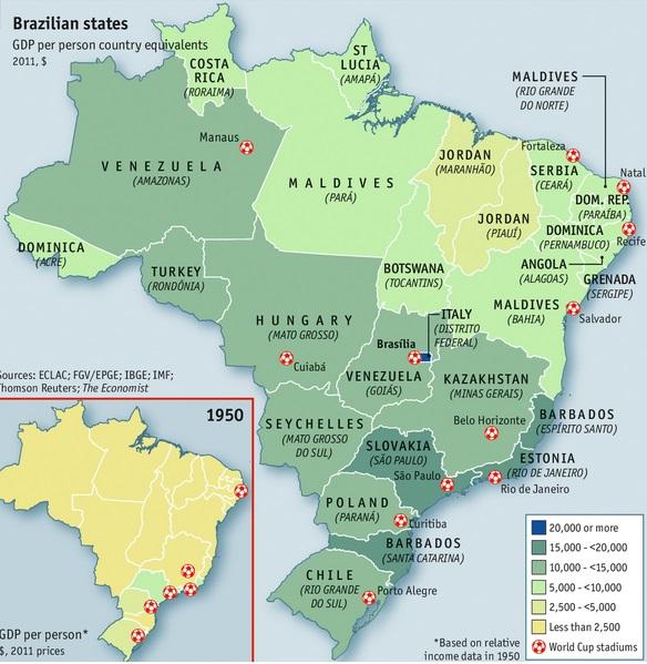Da Belinda a Italordan: as desigualdades regionais no Brasil Grafico-per-capta