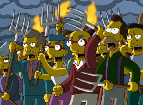 3DS News Thread - Page 19 Simpsons-angry-mob-pitchfork-torches