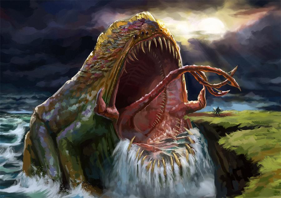 Философия в картинках - Страница 36 Frog_monster___water_colossus_by_agentscarlet-d3hteo2