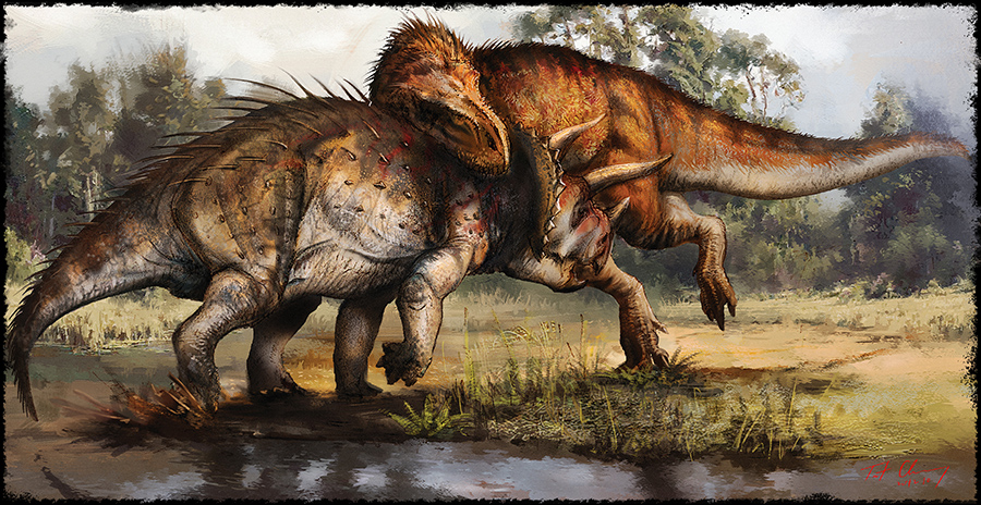 Awesome Paleoart  Tyrannosaurus_vs_triceratops_by_cheungchungtat-d71hqe7