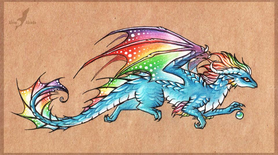 Keshet, the Insanity Dragon Rainbow_in_the_sky___dragon_by_alviaalcedo-d6e5kvj