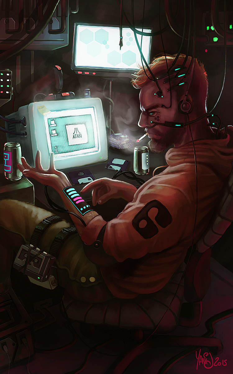 Digital painting de Traaw : Digit en vrac - Page 4 Retro_cyberpunk_by_traaw-d8rfaeg