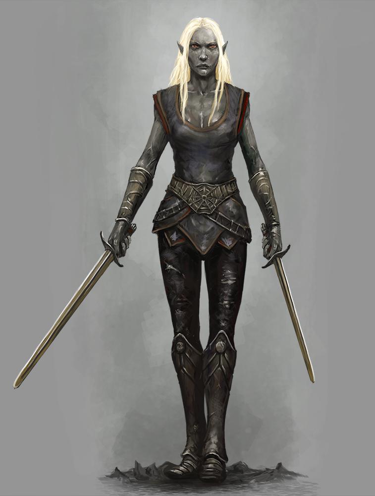 Подбери другому аватар - Страница 2 Drow_swordmistress_by_seraph777-d999y0w