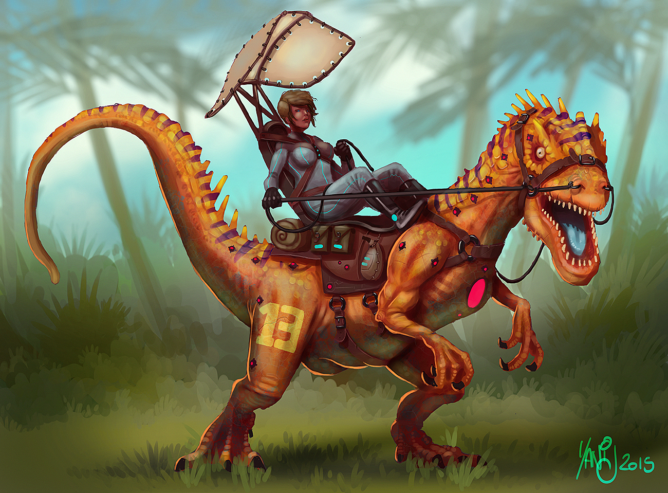 Digital painting de Traaw : Digit en vrac - Page 5 Cyber_dino_by_traaw-d8tb7ul