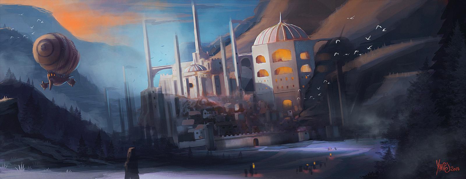 Digital painting de Traaw : Digit en vrac - Page 7 Landscape_by_traaw-d8xwgtt