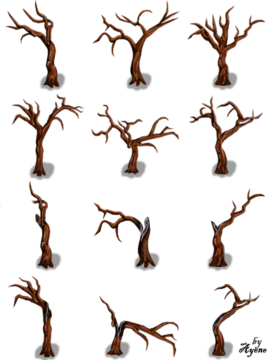 Bibliothèque des ressources VX Ace Tilesets Naked_trees_pack_by_ayene_chan-d492807