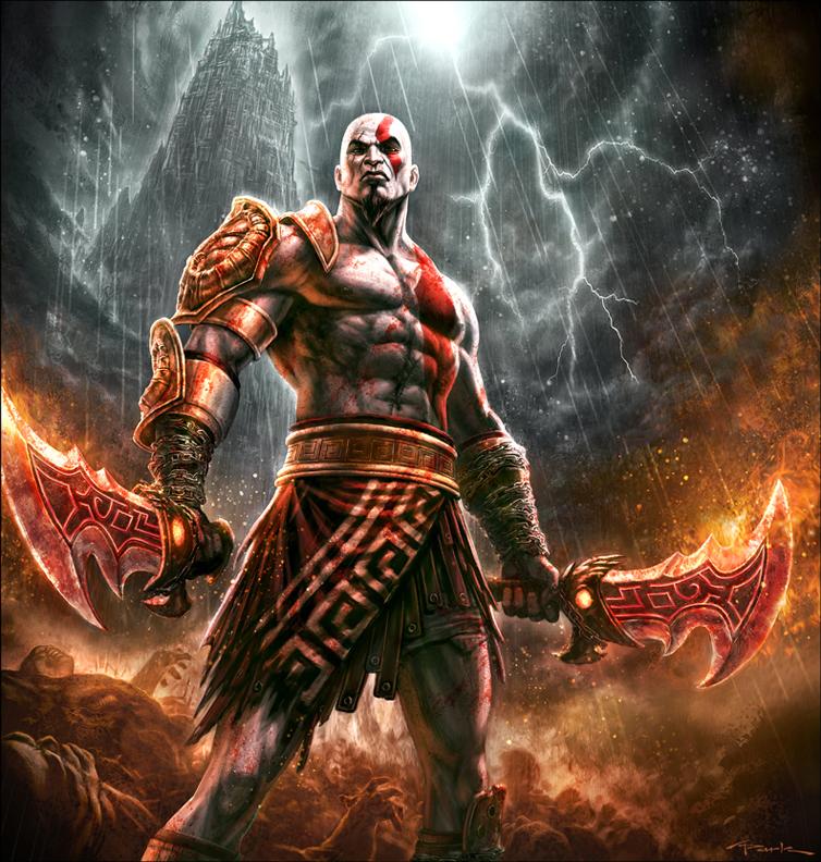 Villains God_of_war_iii__kratos_by_andyparkart-d35m6ku