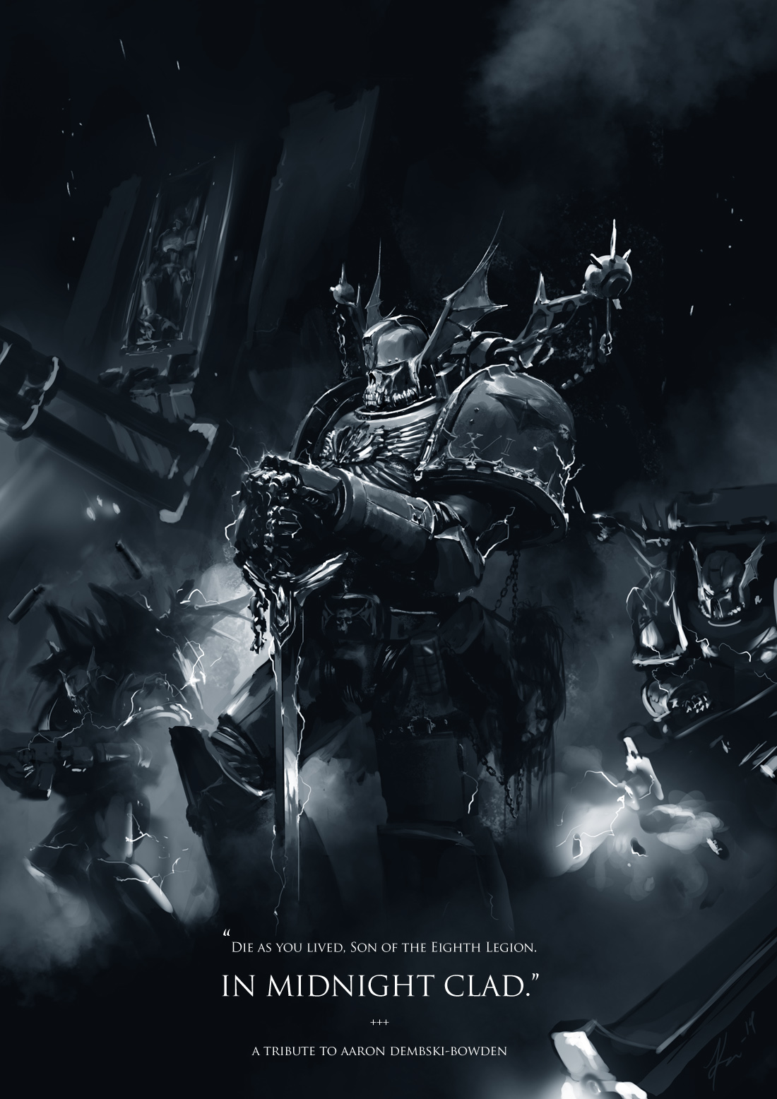 [W40K] Collection d'images : Space Marines du Chaos - Page 10 In_midnight_clad_by_ukitakumuki-d7s1z1o