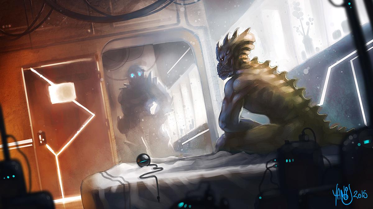 Digital painting de Traaw : Digit en vrac - Page 7 Reptilian_by_traaw-d9jr73x