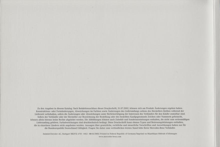 (C209): Catálogo 2002 - alemão 035