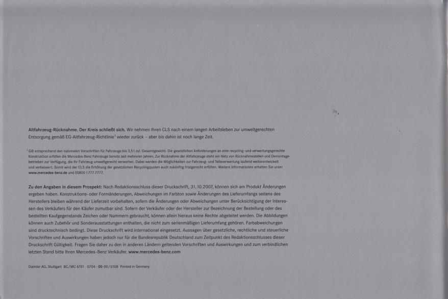 (C219): Catálogo 2008 - alemão 022