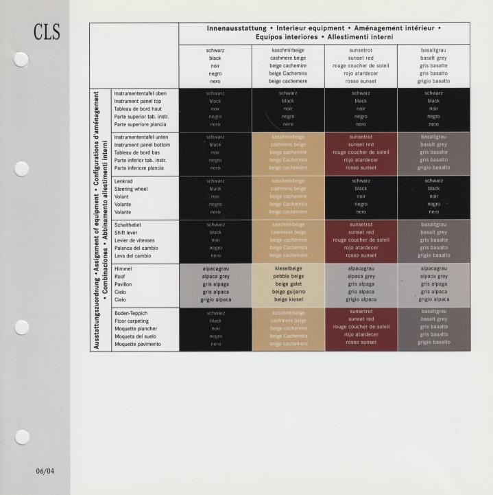 (C219): Catálogo 2004 a 2009 - cores e interiores - multilingue 005