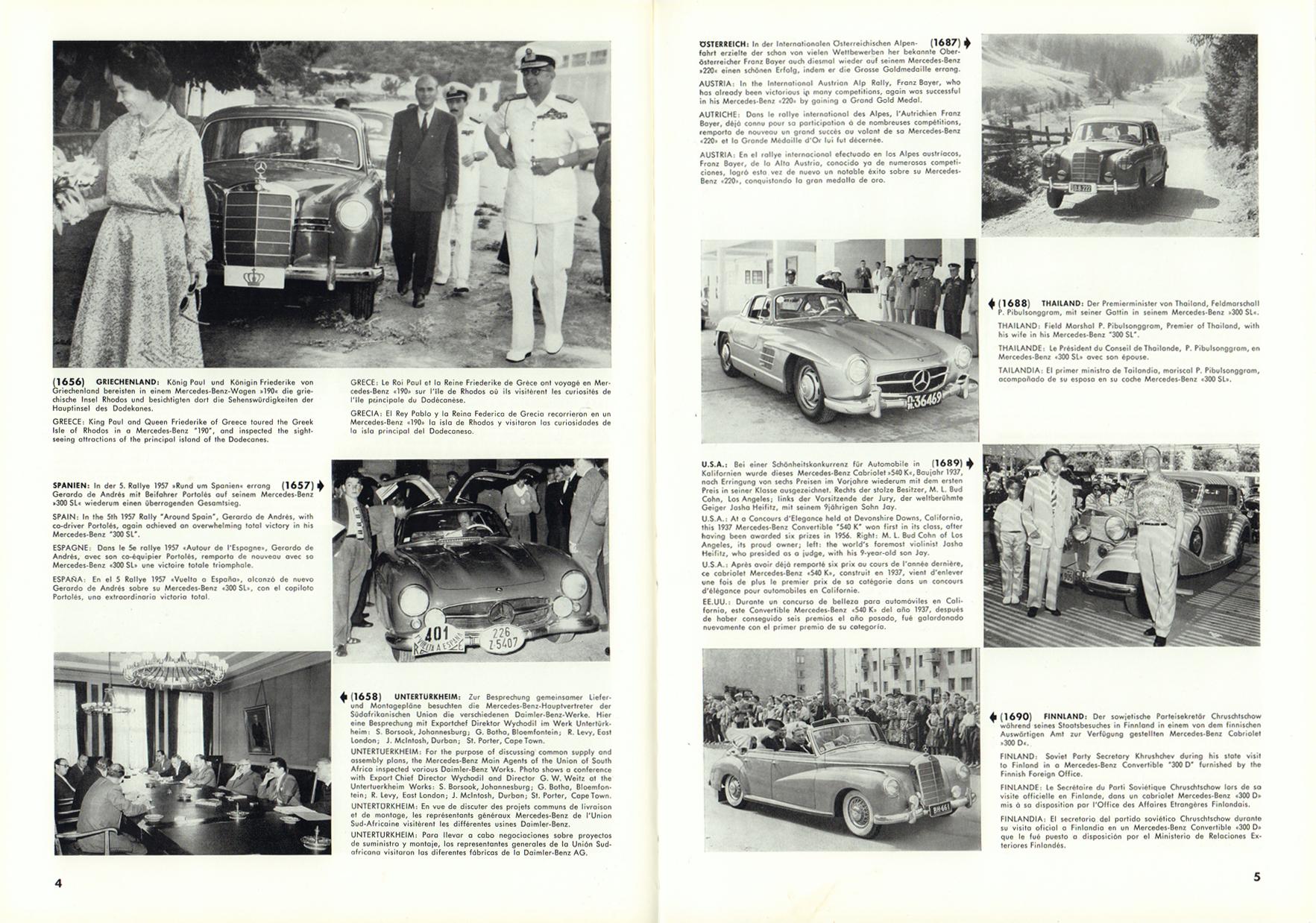 (REVISTA): Periódico In aller welt n.º 12 - Mercedes-Benz no mundo - 1957 - multilingue 003