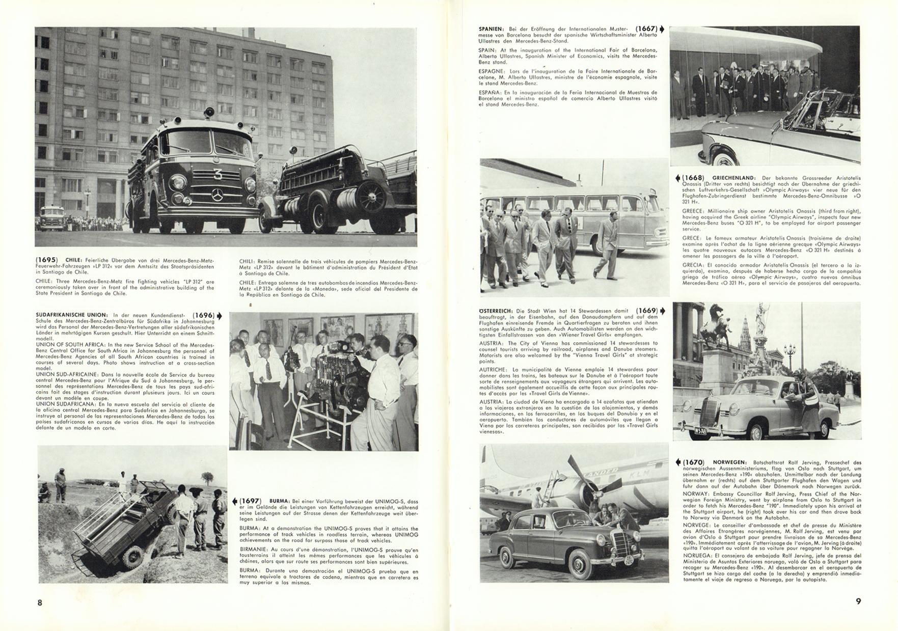 (REVISTA): Periódico In aller welt n.º 12 - Mercedes-Benz no mundo - 1957 - multilingue 005