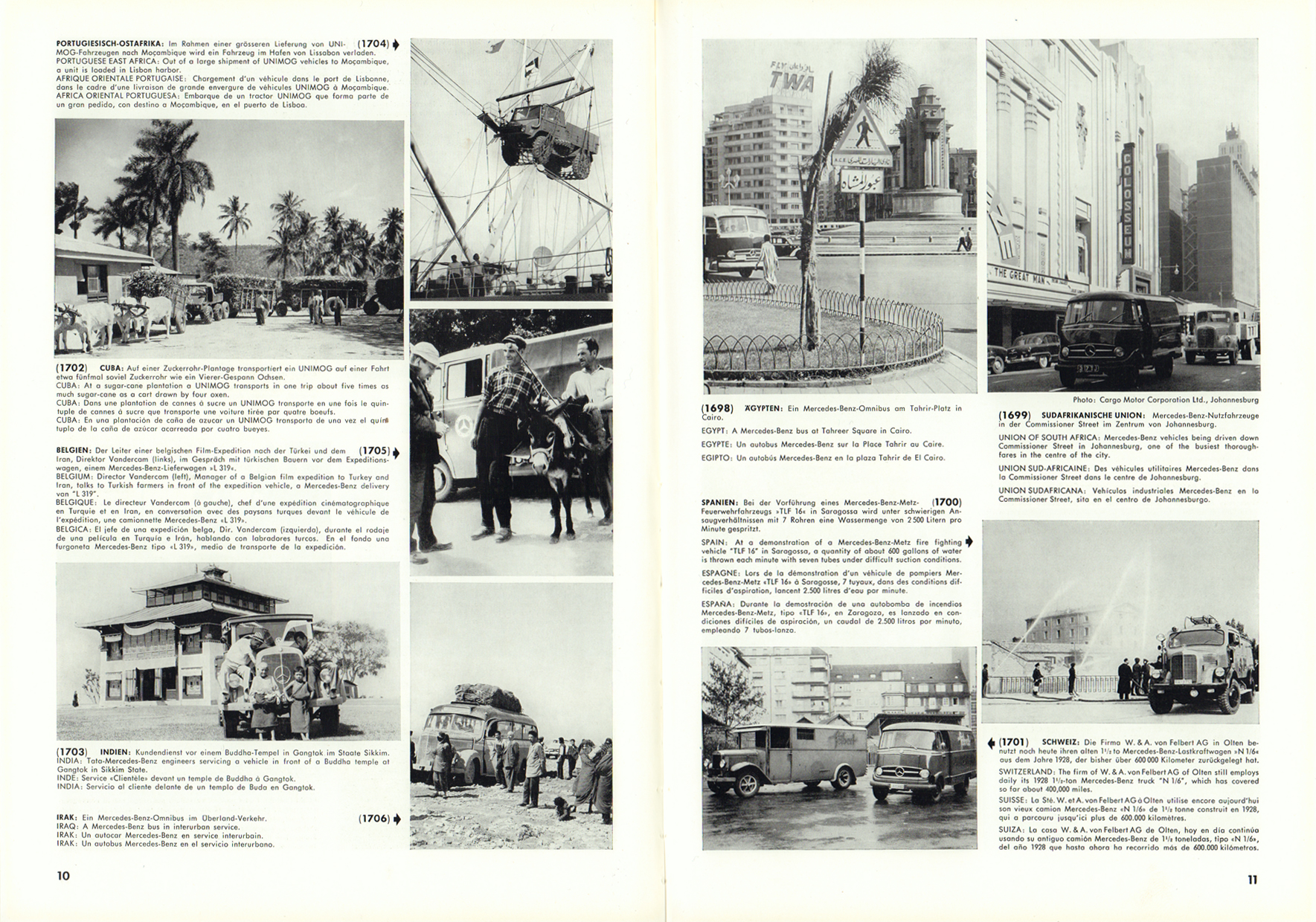 (REVISTA): Periódico In aller welt n.º 12 - Mercedes-Benz no mundo - 1957 - multilingue 006