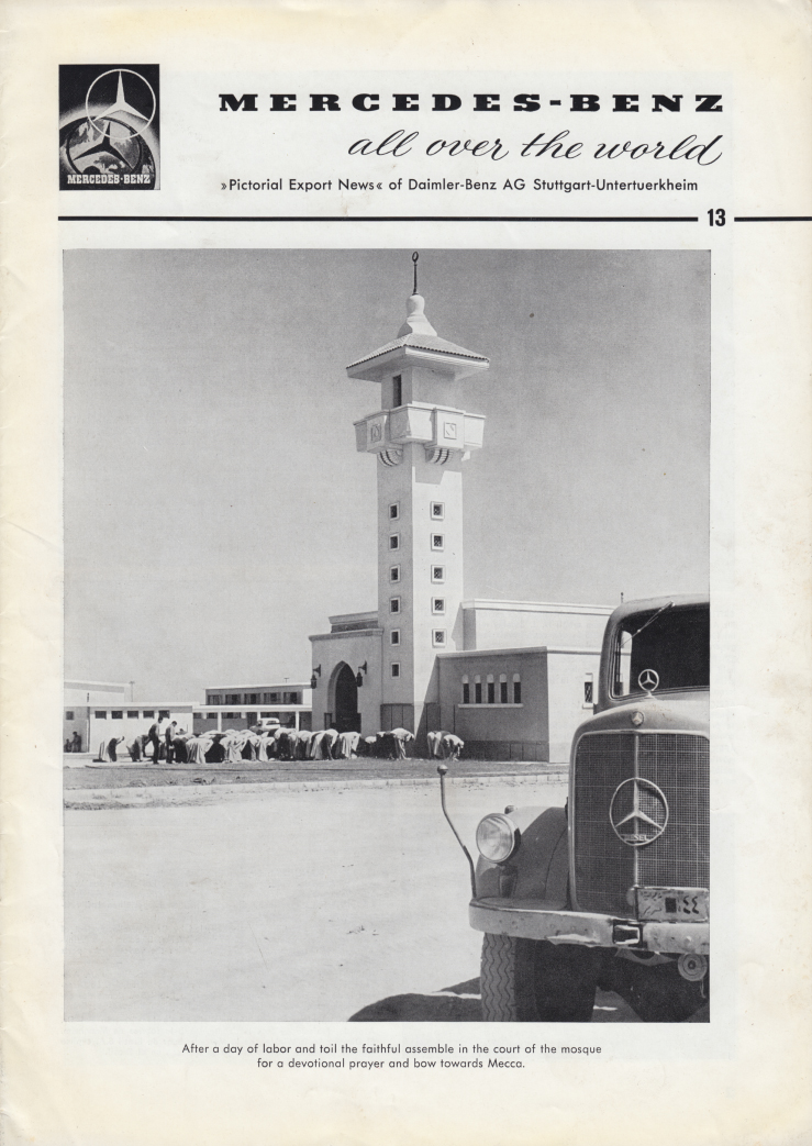 (REVISTA): Periódico In aller welt n.º 13 - Mercedes-Benz no mundo - 1957 - multilingue 001